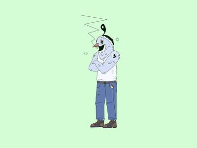 Quail philly character quail design vector shapes philadelphia illustration simple geometric