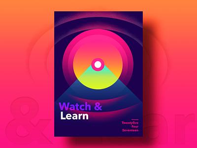 Watch & Learn designdrug nift typography postereveryday motivation freelance color poster gradients rebound jonathan quintin ∆ studio–jq ∆