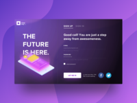 Sign up modal for web. Daily UI: Day 1