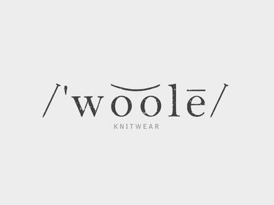 /'woole/ logo WIP