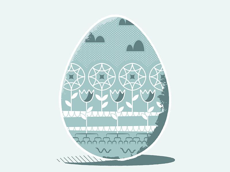 April Showers texture worm vector flat illustrate easter egg rain flower illustration
