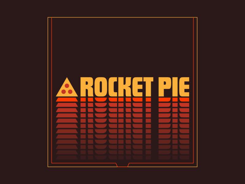 Rocket Pie rocketship calgary canada alberta canmore geometric futura retro pie pizza branding logo space rocket rocket pie