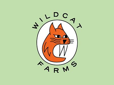 Wildcat Farms mascot agriculture regenerative permaculture wild grow local calgary kitty cat logo farm wildcat