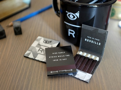 Reveille Mugs and Matches