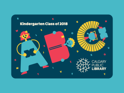 Calgary Public Library library card literacy reading abc illustration kindergarten kids calgary library