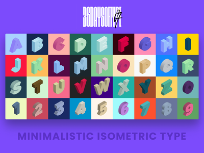 36 Days of Type - 2020 typography art isometric design isometric type design design challenge typography typo adobe illustrator design