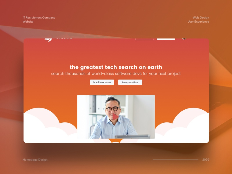 IT Recruitment Website Concept ui mockup design web design conversion sketch landing page information technology it recruitment