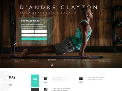 D'Andre Clayton   Yoga Teacher & Educator web branding mockup design web design yoga pose yoga teacher yoga