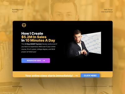 Business Coach Funnel branding ui design web design mockup design sales page landing page entrepreneur business coach business