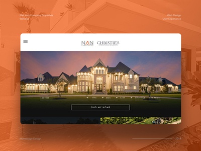 Web Design Concept for Luxury Real Estate Firm design ui branding web design real estate real estate branding real estate agency real estate website