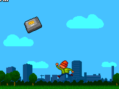 The Incident, first draft pixel 8bit game retro iphone