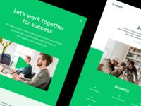 InTeam Website 💚 team design ux ui programmer developer frontend websites redesign technology website design webpage page website