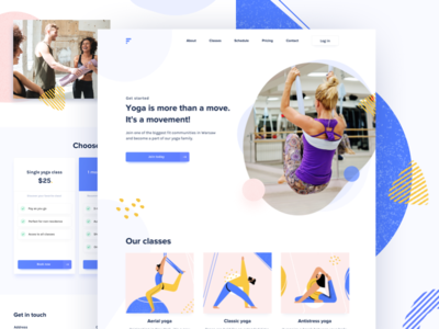 Redesign Concept - Yoga studio illustration website landing page studio yoga fit fitness