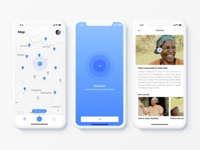 Thuma Thina 🇿🇦 iphone x ui ux property africa app mobile location map