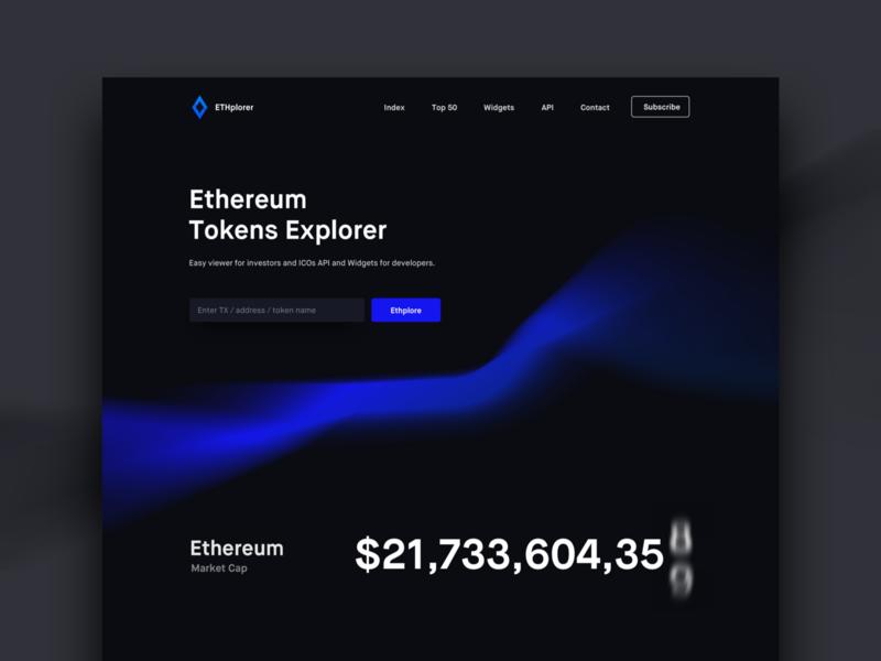 Ethplorer ethworks chart graph black dark transaction token transaction token website landing page cryptocurrency crypto eth ethereum