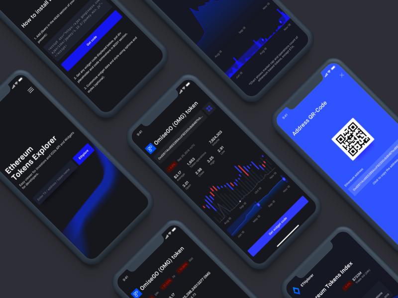 Ethplorer Mobile ethworks design ui blockchain app technology graph ethereum cryptocurrency crypto token transaction token iphone x iphone mobile