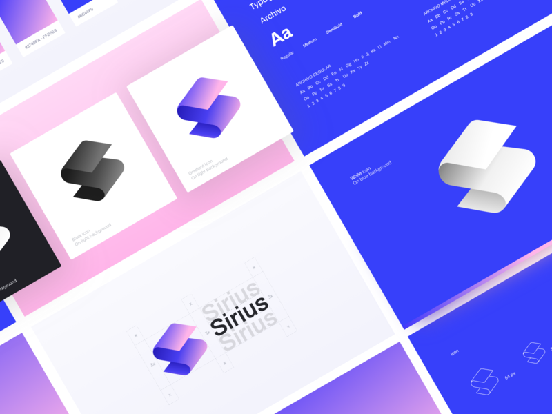 ⭐️ Sirius  ⭐️ ethworks crypto wallet wallet gradient color gradient icon icon gradient technology blockchain cryptocurrency letter s logo currency branding identity identity branding