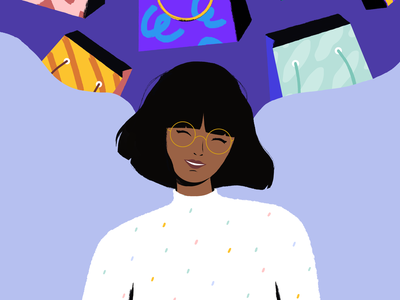 E-Commerce Illustration design shop dreams flat ethworks people woman shopping bag shopping ecommerce illustration