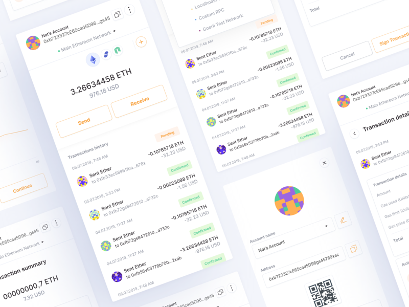 🦊MetaMask 🦊 redesign ux blockchain cryptocurrency ether eth ethereum blockies cryptocurrency ui design crypto blockchain technology ethworks