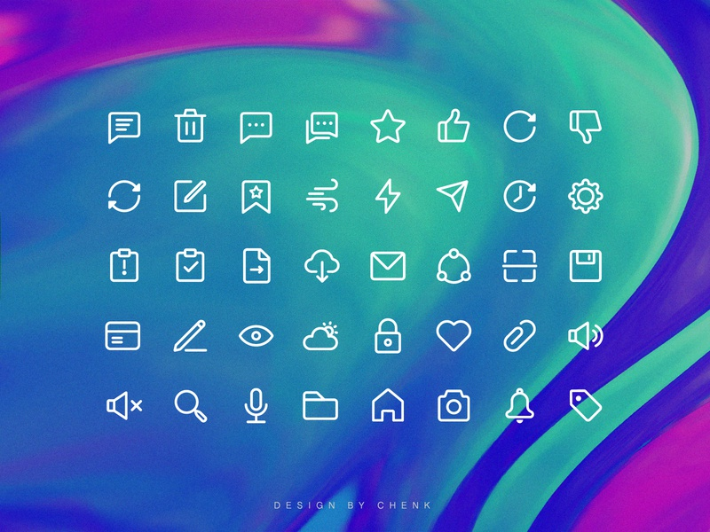 system icons ui illustration design icon