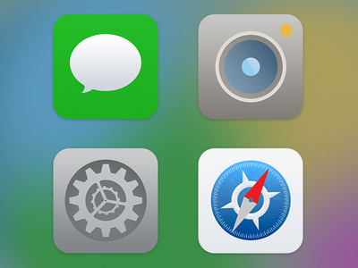 iOS 7 icon fixes ios icons simple flat redesign my take