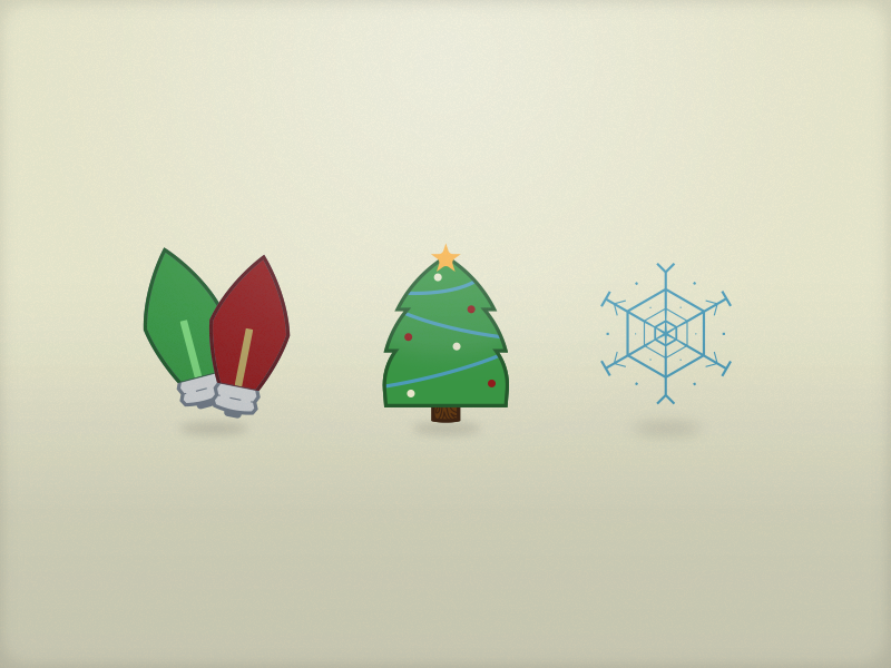 Christmas! christmas lights tree snowflake icons