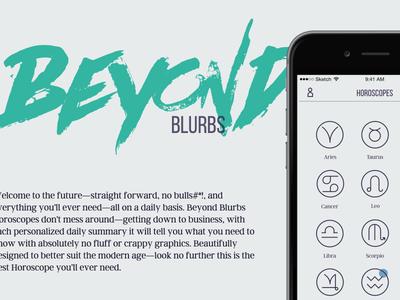 Beyond Blurbs - Horoscopes beyond blurbs iphone website app horoscopes zodiac