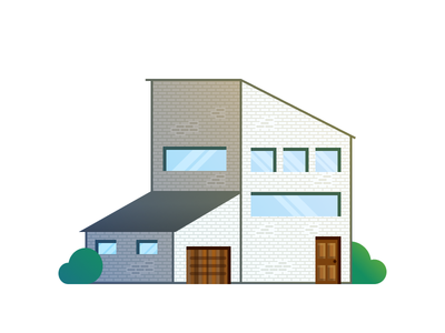 Modern House modern house roof garage door window bush house modern