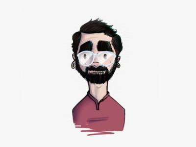 Day 001 - Self Portrait self portrait drawing illustration me