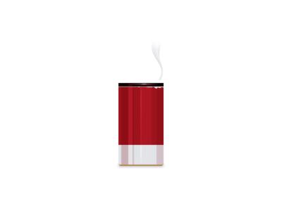 Favorite mug metal metallic red vapor cup illustration coffee mug