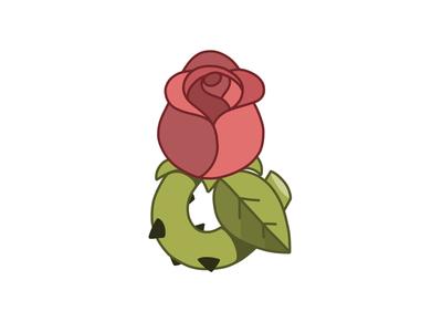 Rose & Thorns petal chartreuse leaf thorn rose ampersand