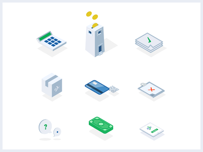 Insurance icons money insurance set icons