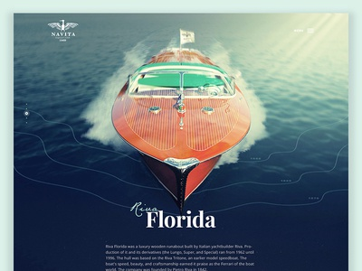 Yacht club - boat page layout clean website luxury riva boat yacht