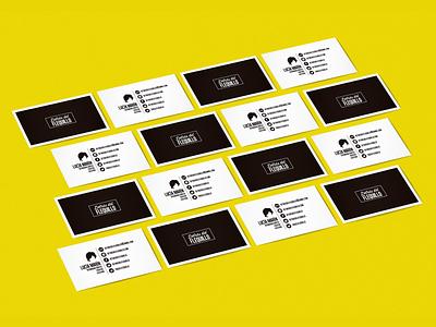 Detras Del Flequillo - Business Cards white black black and white clean card brand branding designer detras del flequillo minimal logo business card design