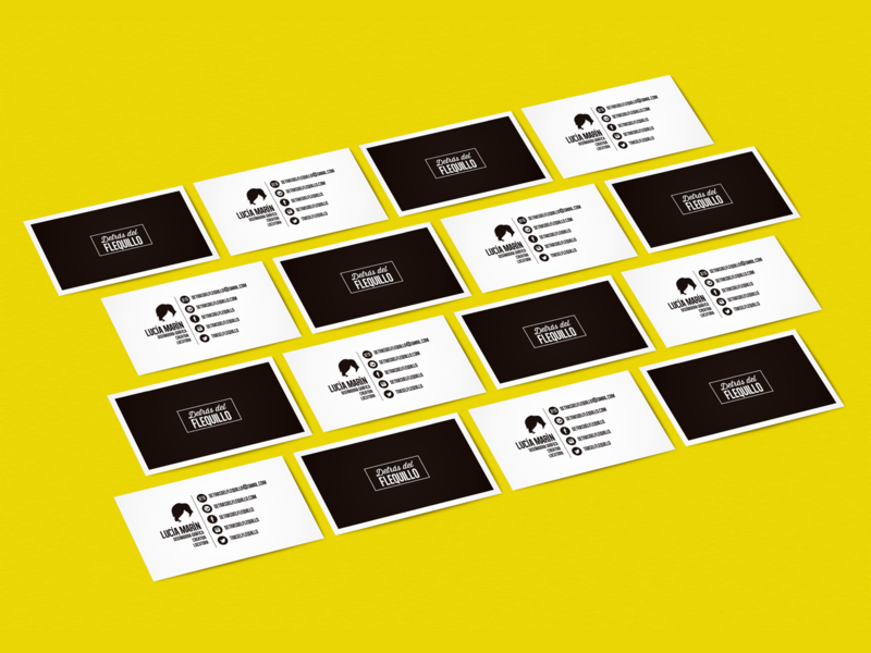 Detras Del Flequillo - Business Cards