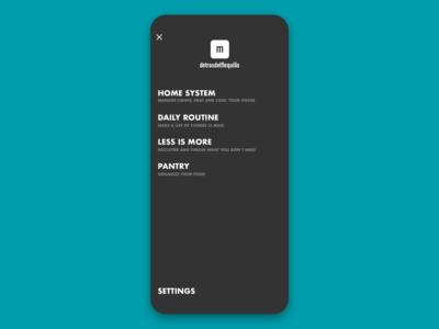 Minimal App Menu