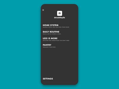 Minimal App Menu menu designer clean ui ux design app minimal