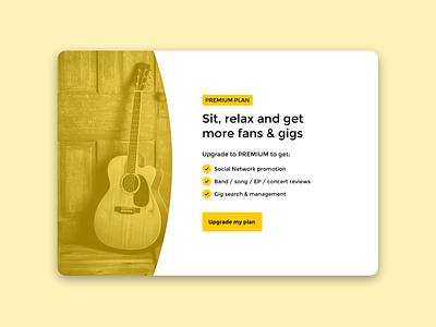 West Sound Pricing card plan upgrade designer design ux ui clean yellow minimal card price pricing