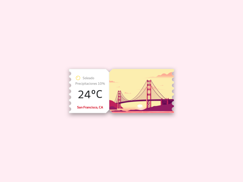 Weather widget card for San Francisco