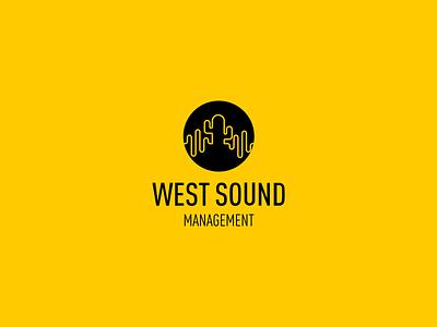 West Sound Logo management logotipo yellow cactus brand branding logo clean minimal design