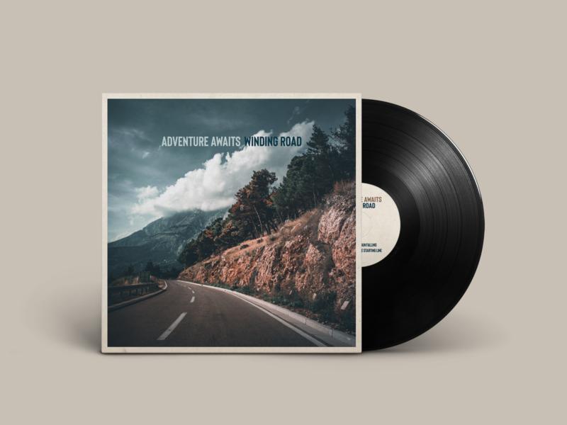 "Album artwork EP ""Winding Road"" - Adventure Awaits"