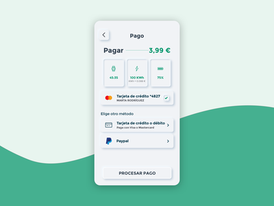 Neumorphism payment screen paypal pay electric electric car charging app car payment app soft ui ux ui clean minimal design neumorphism neumorphic