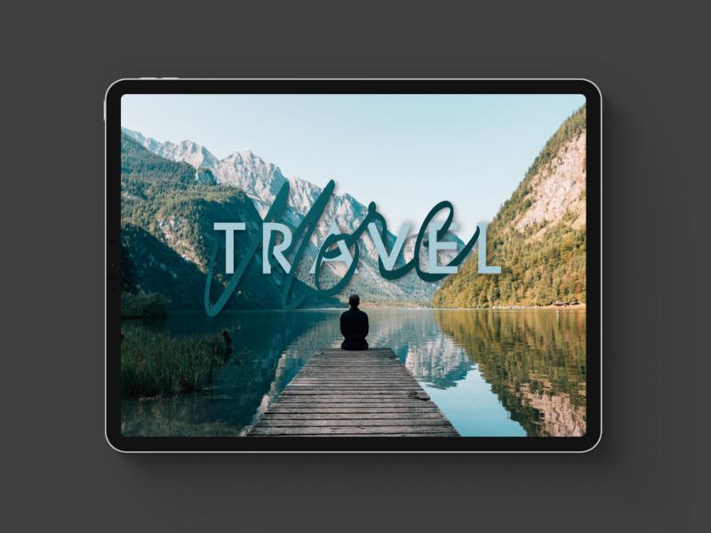 Travel More Procreate Lettering
