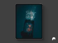 """""""Shine Bright"""" Procreate Lettering"""