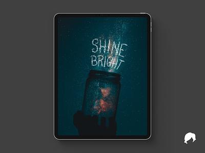 """Shine Bright"" Procreate Lettering typography ipadproart ipad photo brush lettering lettering art procreate bright shine lettering design"