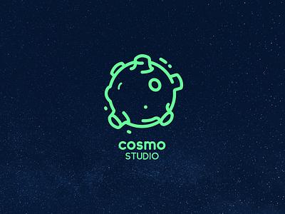 Cosmo Studio Logo branding design logo branding creative studio cosmo clean minimal design