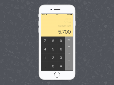 Daily UI #004 - Calculator design 004 ux ui calculator minimal dailyui daily challenge app