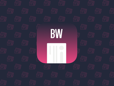 Daily UI #005 - App Icon gradient design ux ui challenge 005 dailyui business card card bwcards icon app