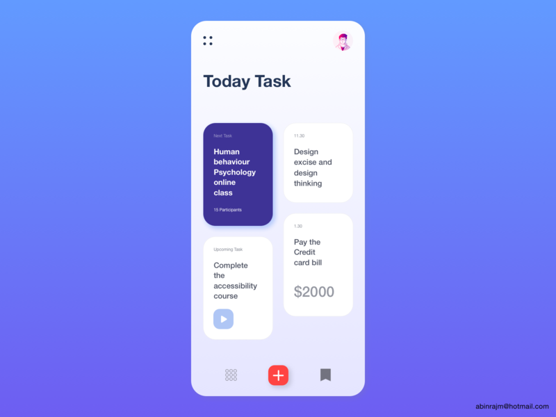 Daily Task Managing App design designspiration dashboard color theory mobile accessible ux
