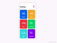 Parking area finding app